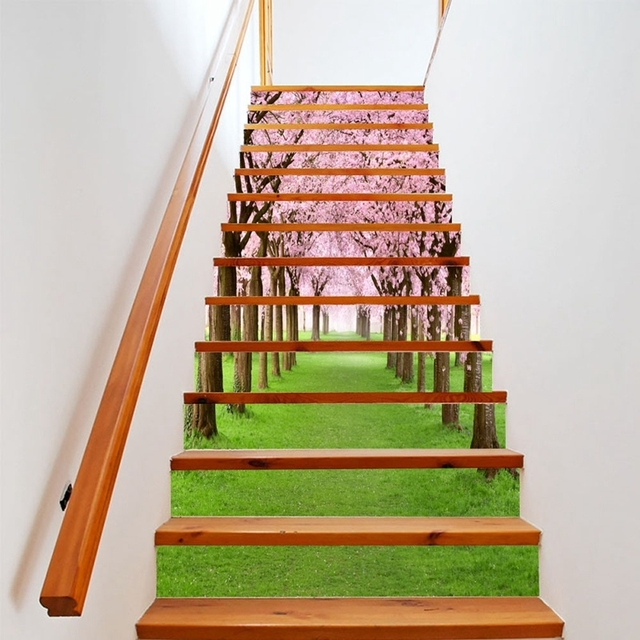 3d Vinyl Wall Art Creative DIY 3D Stairway Stickers Pattern For House Stairs  Decoration Staircase Wall