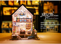 Assemble Miniature Wooden Doll House Harbor Of Venice DIY Furniture Dollhouse With LED Light Birthday Gift Model