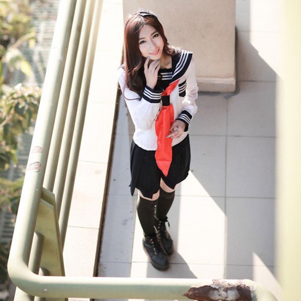 Anime Hell Girl Cosplay Costume School Sailor Uniform Suit Student - Կարնավալային հագուստները - Լուսանկար 5