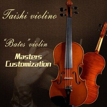 Taishi limitada Bates 4/4 violín 60-y Abeto velho bordo antonio Stradivari Violino...