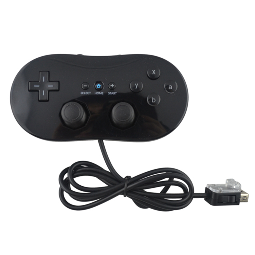 50PCS a lot Black/white For Nintendo Wii Classic Wired Game Controller Gaming Remote Pro Gamepad Shock Joystick Game pad/Joypad