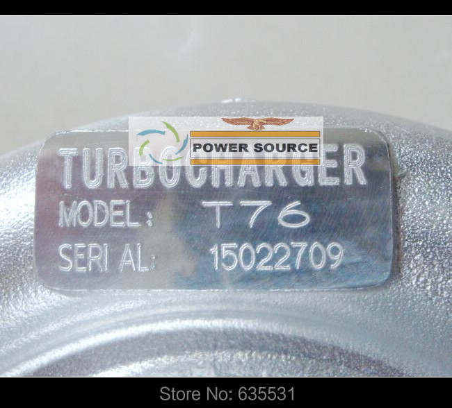 Turbo Turbine oil cooled Turbocharger T76 T4 Turbine AR .68 Comp AR 0.80 800HP-900HP Turbo charger - (7)