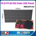 10 шт./лот RG F5.0 из светодиодов панель экрана знак баннер модуль крытый прокрутки сообщения из светодиодов рекламный щит p7.62 матричный из светодиодов панель 488 * 244 мм