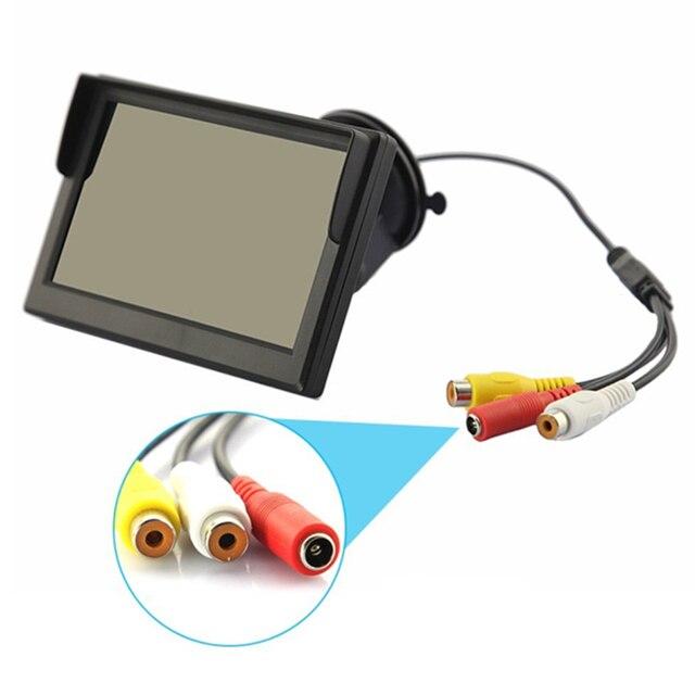 5 polegada TFT LCD Mini Car Rear View Monitor Colorido de Estacionamento Rear view Monitor de Tela Para DVD VCD Reversa Câmera Nova Marca atacado