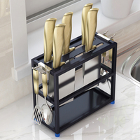 Stainless steel Kitchen shelving knife storage Accessories knife holder kitchen supplies holder (without Knives)