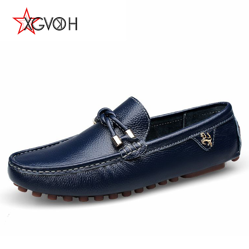 XGVOKH Men Cow leather Loafers Driving Light Lazy Casual Shoes Mens Spring autumn Flats Classic Moccasin Slip on Male Moccasins tassel casual loafers men shoes genuine leather flat anti skid driving moccasin slip on spring new black white sperry shoes male