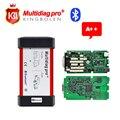 A + + Calidad Multidiag pro 2014.3 software TCS con activación gratis + Bluetooth + caja de Cartón de Envío Gratis