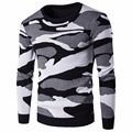 Military Style Men Camouflage Sweaters Knitted Crewneck Pullovers New 2016 100% Cotton Long Sleeve Camo Sweater High Quality