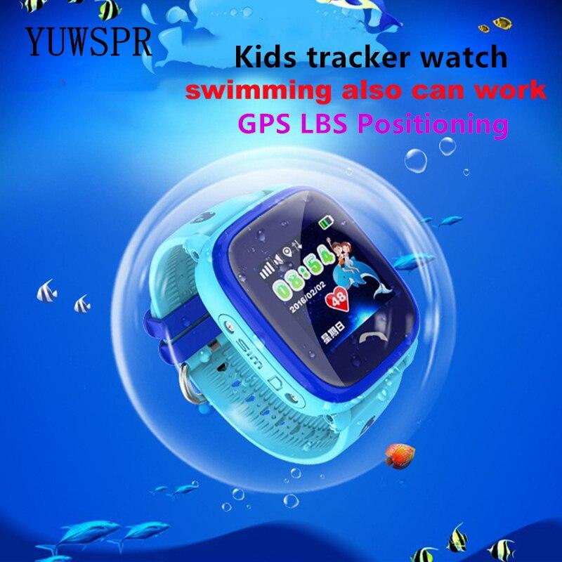 Kids GPS Tracker Watch Waterproof IP67 can Swim touch screen SOS Emergency Call Location Wearable children