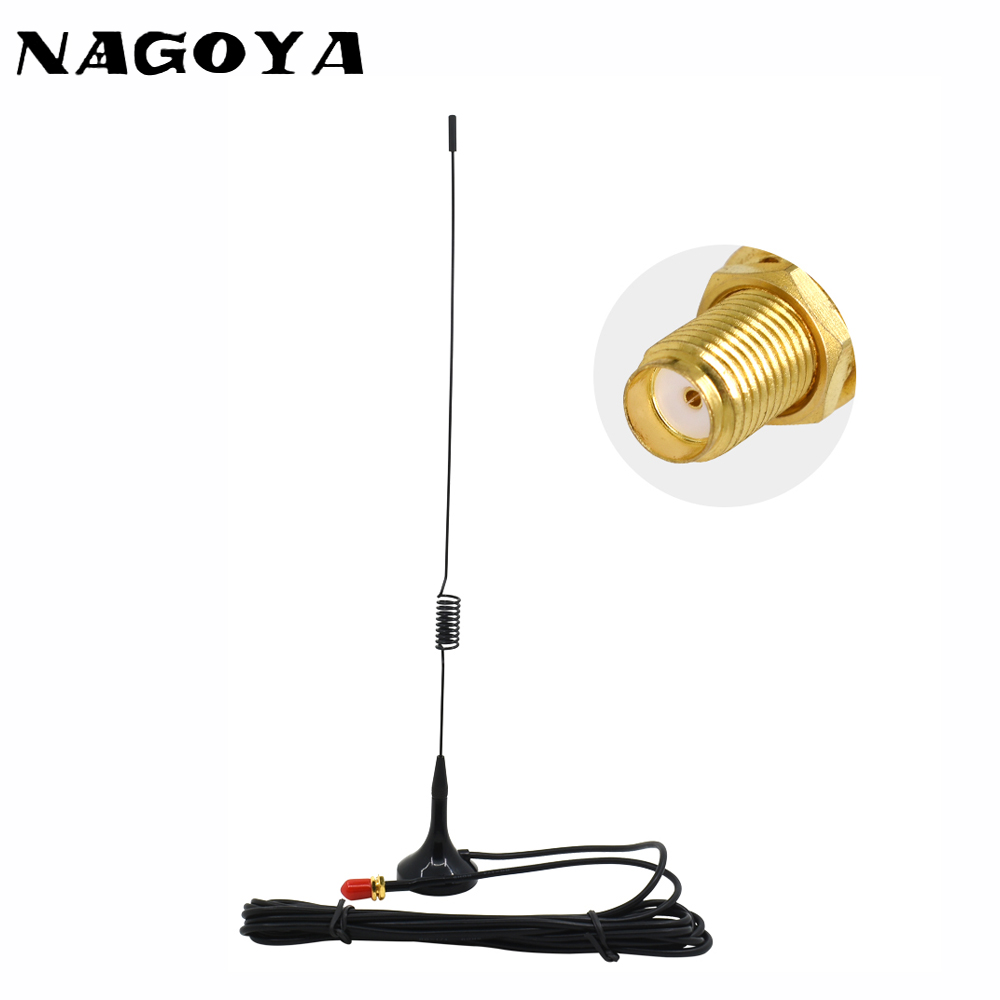 NAGOYA UT-102UV SMA-F Female 144/430MHz Dual Band Car Antenna VHF UHF For Baofeng UV-5R BF-888S Two Way Radio 3m RG-174 Cable