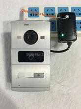 HIK Control-DS-KV8102-1A Dostępu Wideo (DS-KV8102-IM), 120 WDR kamera, Wizualne domofon dzwonek wodoodporna, karty IC, przewodowy domofon IP