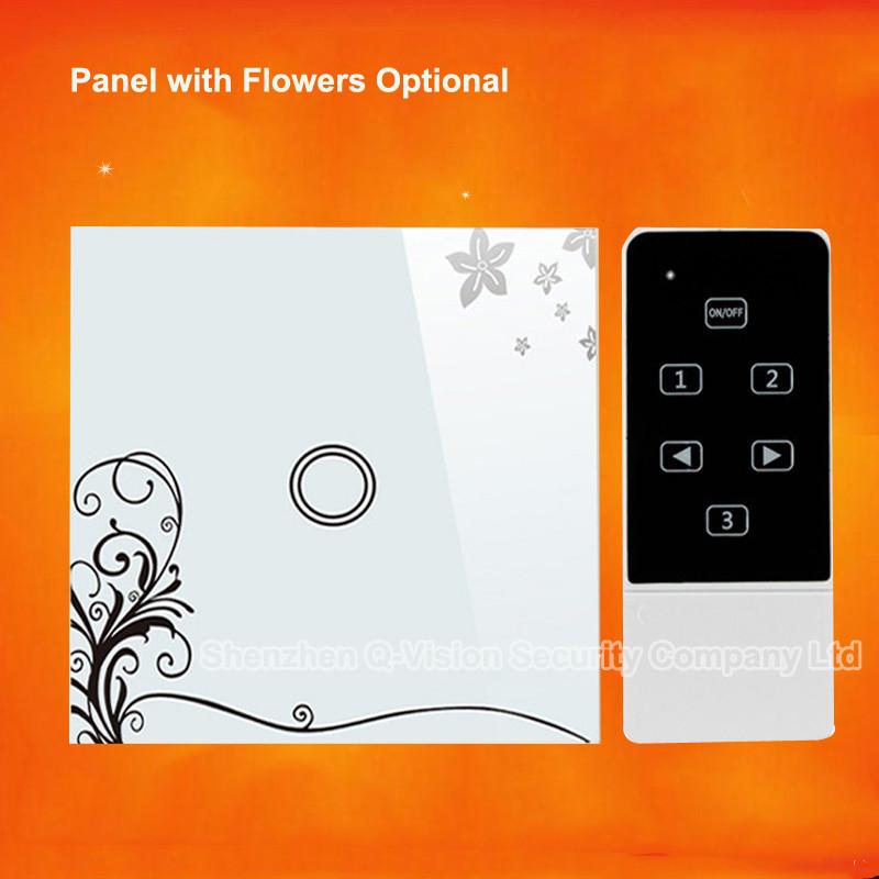 2-EU 1Gang 2Way Smart Home Wifi Light  Switch Remote Control Wall Switch Crystal Panel 110-220V RF433 Compatibl Broadlink RM Pro