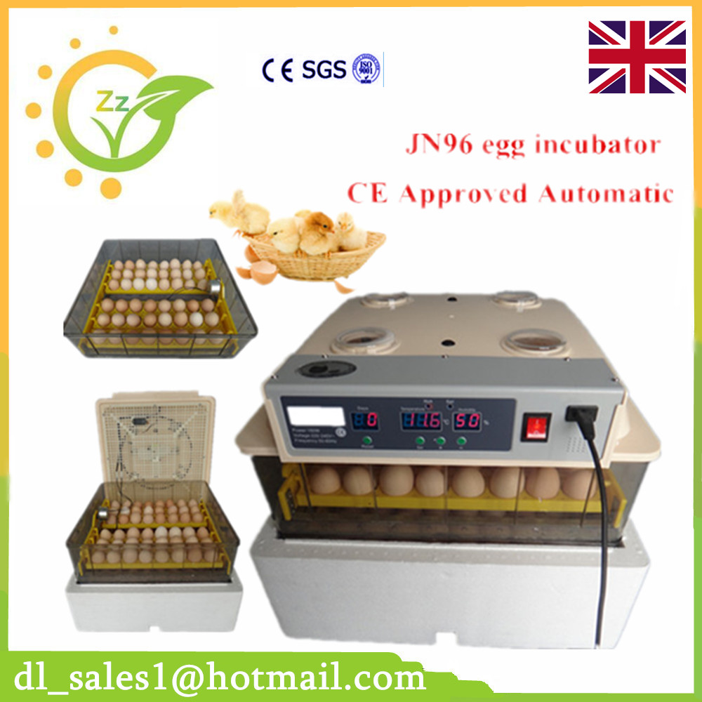 1 Piece Full Automatic Temperature Controller Egg Incubator 96 Chicken Duck Bird Eggs Capacity Hatching Machine With CE Approved remote control wall switch eu standard touch black crystal glass panel 3 gang 1 way with led indicator switches electrical