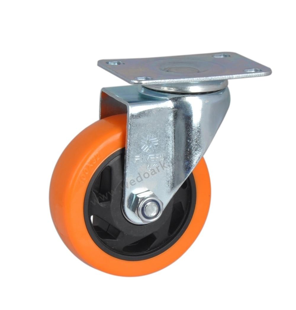 """4Pcs PVC Heavy Duty 4/"""" Swivel Caster Wheel Trolley Caster Brake Bearing Lockable"""