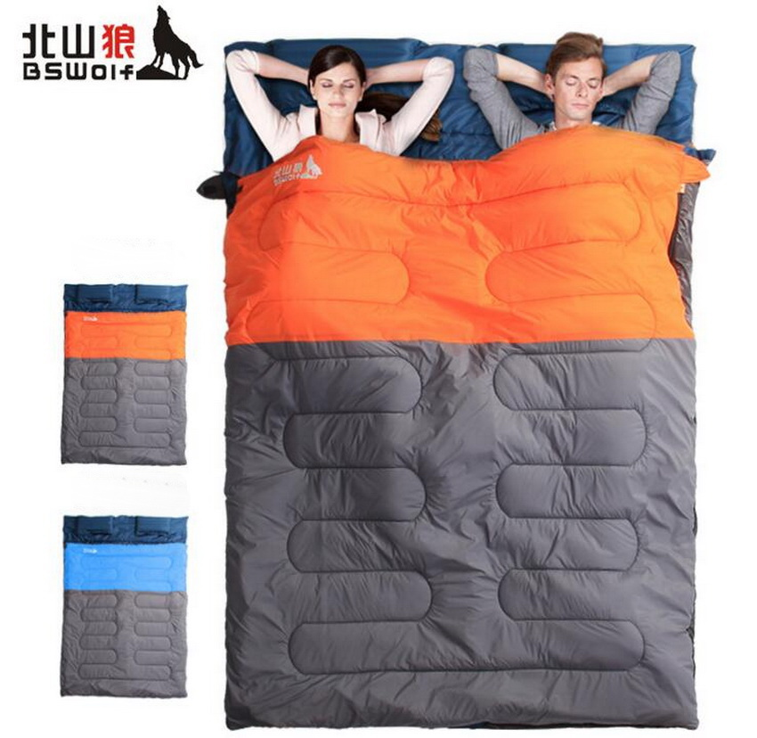 Couple sleeping bag. Widening warm outdoor camping indoor midday adult double sleeping bag couple double sleeping bag with pillows lightweight outdoor camping tour portable adult lover warm sleeping bag for 3 seasons