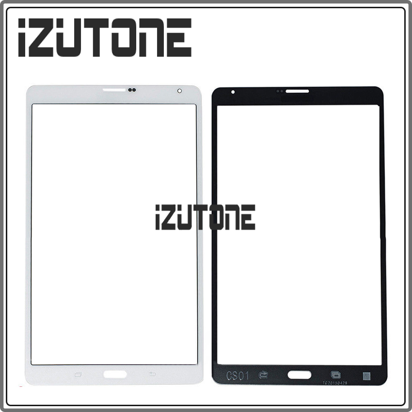 100% warranty White Color Front Glass Top Lens For samsung T705 for Galaxy Tab S 8.4 inch LTE SM-T705 By Free Shipping
