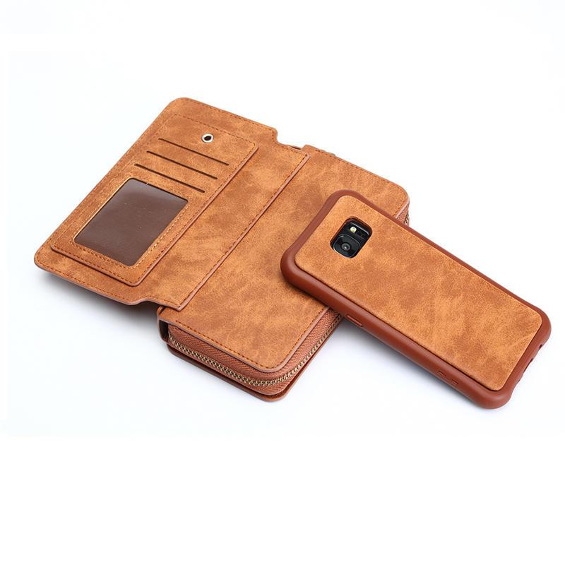 Wielofunkcyjny portfel skórzany case do samsung s4 s5 s6 s7 edge S8 NOTE4 NOTE5 Zipper Torebka Pouch Sprawach Telefonów Lady Torebka Okładka 5