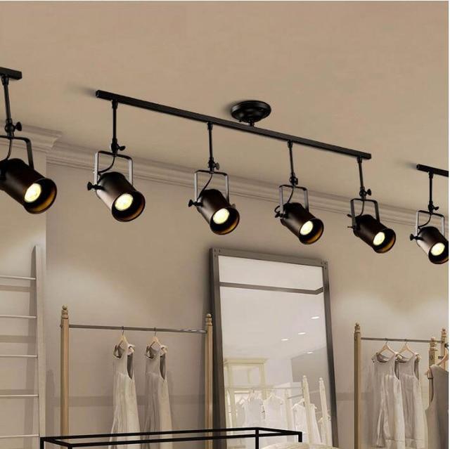Tienda de ropa retro negro luces colgantes para comedor hierro ...