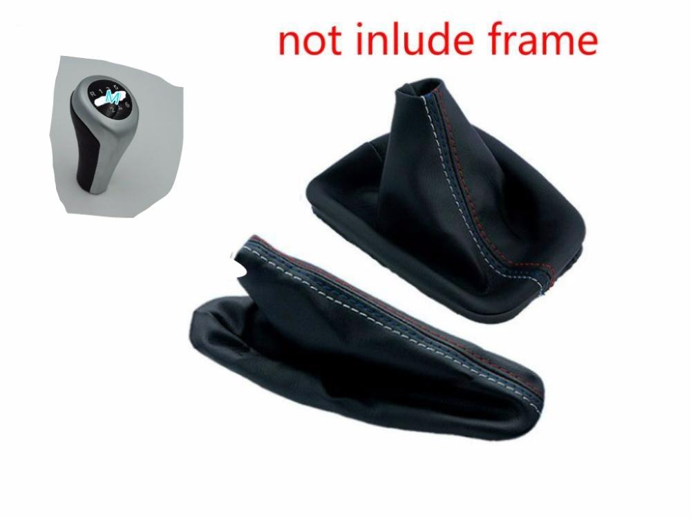 5 6 speed Shift Gear knob Stick Manual Handbrake Gaiter Shift Leather Boot For BMW 3 Series E36 E46 e39 M3 Car Styling