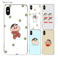 Uyellow Cute Crayon Shin chan Cover For Iphone 5 6S 7 8 9 10 Plus Trend Silicone Soft TPU Phone Case For Apple X XR XS MAX Coque цена и фото