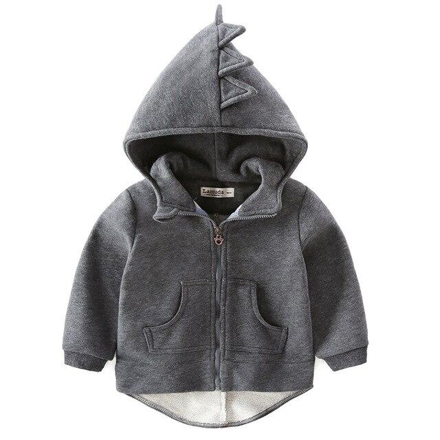 dadb59ca15bb 2017 Autumn children coat hoodies Boys girl cotton sweatshirt cartoon  monster dinosaurs baby toddler kids clothes Windbreake-in Jackets   Coats  from ...