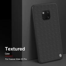 """Dla Huawei Mate 20 Pro pokrowiec na biznes 6.39 """"NILLKIN 3D teksturowany pokrowiec na Huawei Mate 20 Pro funda coque capa na miękka krawędzie"""