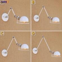 IWHD Desván Cosecha Lámpara de Pared LED Industrial Retro largo brazo de la Lámpara de Pared de la Escalera Luces Arandela de Hierro Creativo accesorios de Iluminación