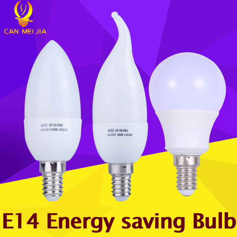 CANMEIJIA LED Lamp E14 Candle Bulb Light Bombillas Led 3W 5W E14 Energy Saving Light Bulbs 220V Lampada LED Ampoule Chandelier