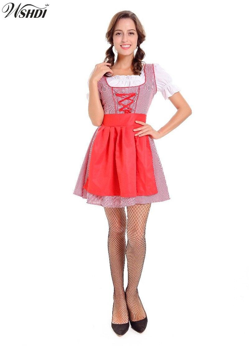 Adult Oktoberfest Girl Dirndl Costume German Wench Costume Carnaval Festival October Beer Maid Fancy Dress