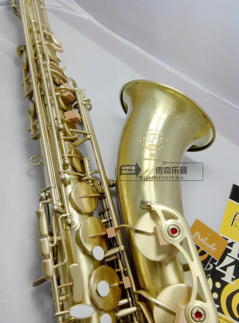 France Henri Saxophone Tenor Selmer Sax Bb(Bb) Flat Brass Carved 54 Bronze Tenor Saxofone with Gloves Cleaning Cloth Brush bb f tenor trombone lacquer brass body with plastic case and mouthpiece musical instruments