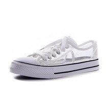 โปร่งใสผู้หญิงลำลองรองเท้าแฟชั่น Breathable รองเท้าผู้หญิงรอบ Toe หญิงกลางแจ้งเดินรองเท้าผ้าใบผู้หญิงรองเท้า 20