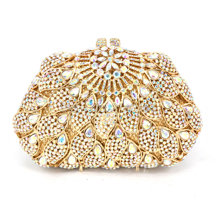 Women Evening Bags Ladies Natural Stone Clutch Bag Fashion Female Purses And Handbags  A/B gold color bag With Chain 88411-B new sequin clutch bag finger ring evening bag hard box clutch chain sshoulder bag crossbody bags for women purses and handbags