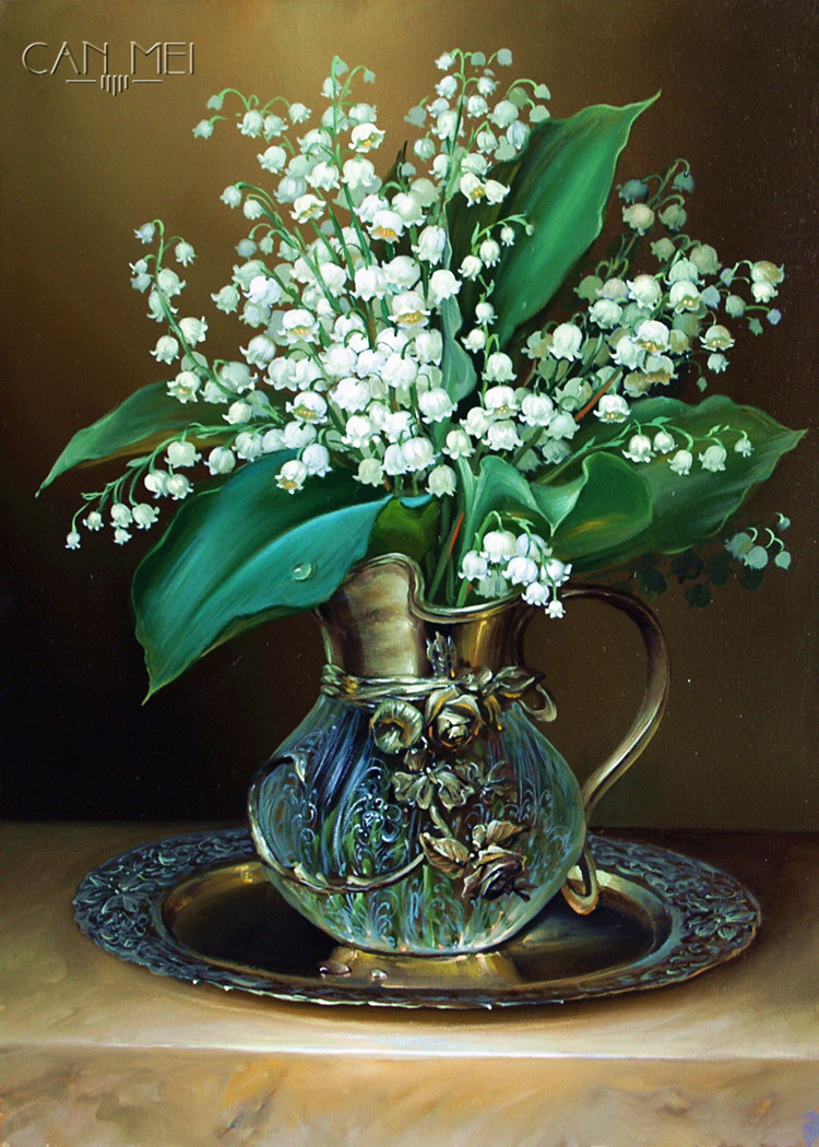 New  Lily of the valley Full Drill Diamond Embroidery Diamond Mosaic fashionThe Paintings of