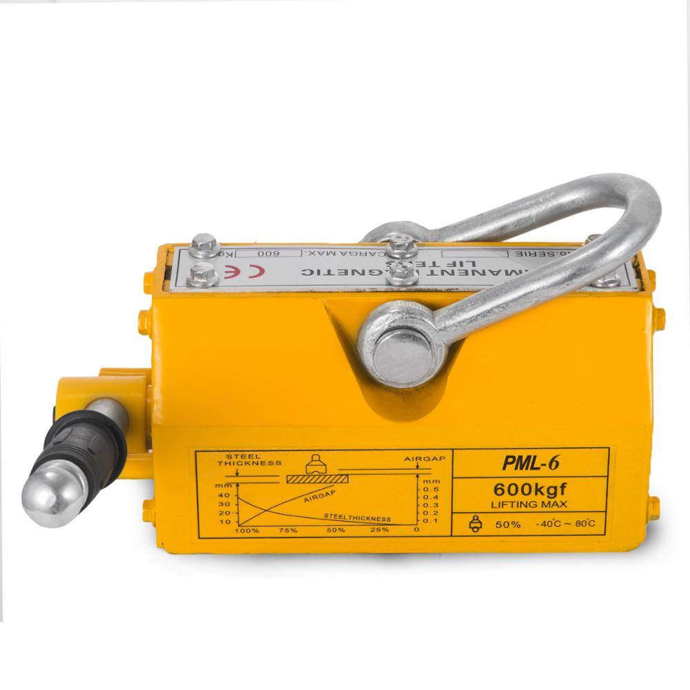 Steel Magnetic Lifter 1320 LB Metal Lifting Magnet 600 KG Neodymium Magnetic Lift Hoist