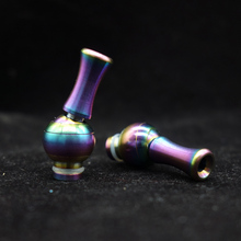 1pc Rainbow Rotating 360 Degree 510 Metal Drip Tips Detachable With Heat Insulation Slug 510 Atomizer E Cigarette
