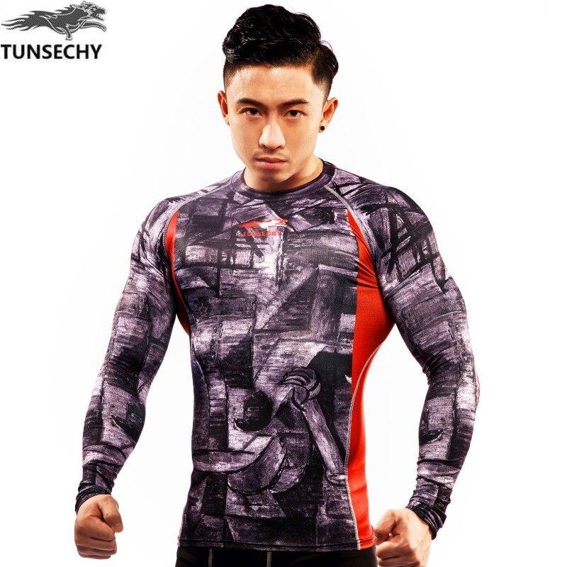 Hot shot Новинка 2017 что пальто весело моды tunsechy бренд футболки высокого сжатия лайкра эластичные футболки