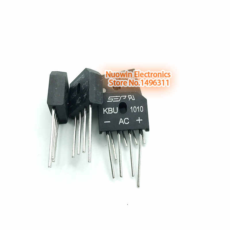 10PCS 10A 1000V diode bridge rectifier kbu1010