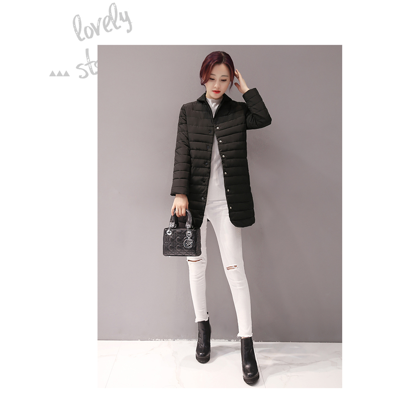 d8304b6b8 2017 Thin Women Quilted Parkas Long Women Cotton Padded Jacket ...