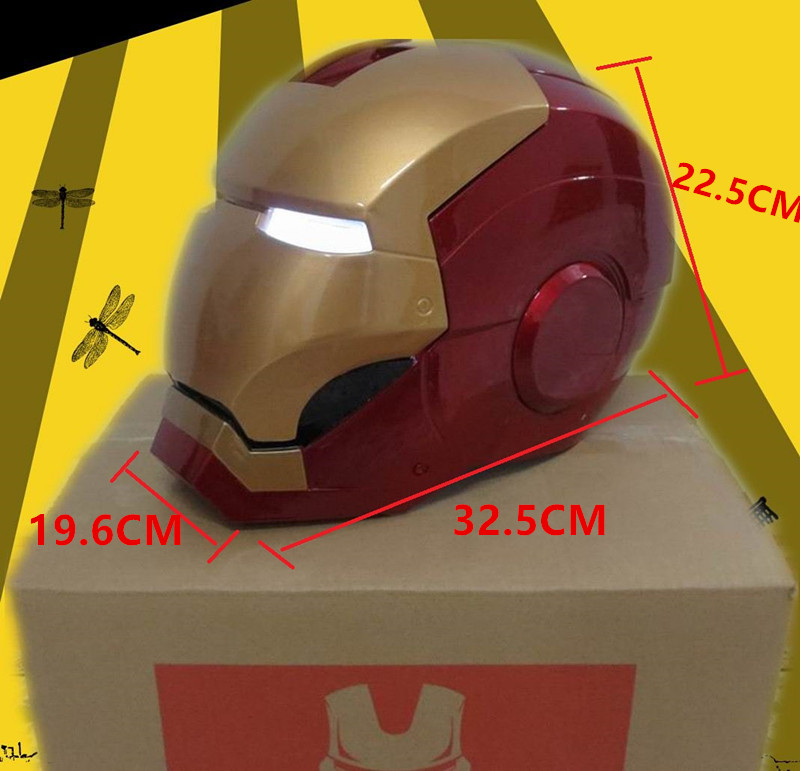 Huong Movie Figure 1:1 Avengers Iron man MK7 Helmet light Collectors ABS Action Figure Toys Christmas Gift Model Collectibles new hot 26cm avengers gray iron man action figure toys collection christmas gift with box
