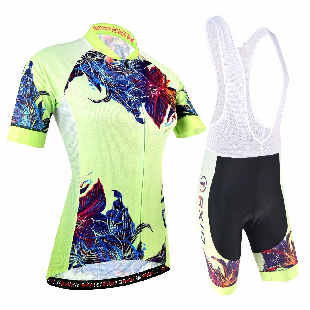 BXIO Women Cycling Clothing With Bib Shorts Pro Cycling Jersey Double Lycra Flat Stitching For Cuff Of Sleeve And Shorts End 180