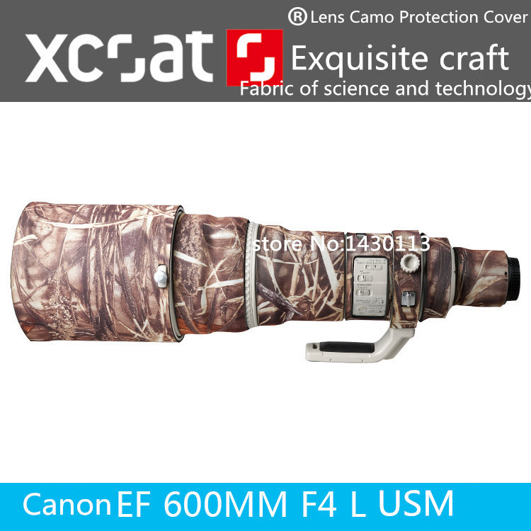 Camera Lens Coat Camouflage for Canon EF600mm F 4L USM Lens Camo Protection Cover brown Jungle