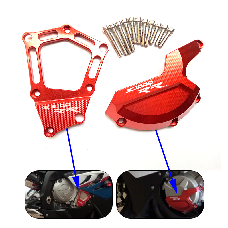 For BMW S1000RR HP4 K42 K46 Motorcycle Engine Saver Stator Protector Case Guard Cover for BMW S 1000 RR HP4 K42 K46 2009-20115 brompton stickers