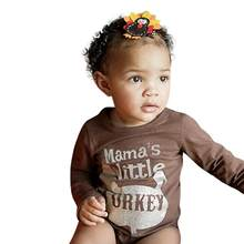 6772f6bbee2 Happy Thanksgiving Newborn Baby Boy Girl Letter Print Romper Playsuit Top baby  girl boy clothes kids clothing