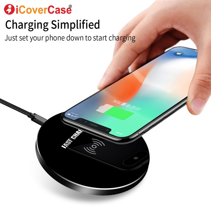 For iPhone X 8 8plus Wireless Charge Fast Charging Pad Dock QI Wireless Charger Case For Samsung Galaxy S8 S9 Plus Note 8 5