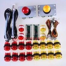 อาเขตDIYชุดชิ้นส่วนEncoder USB +อาเขตGamepads + 20xไฟLEDเรืองแสงโคมไฟปุ่มสำหรับMAMEและราสเบอร์รี่PI Retropieโครงการ