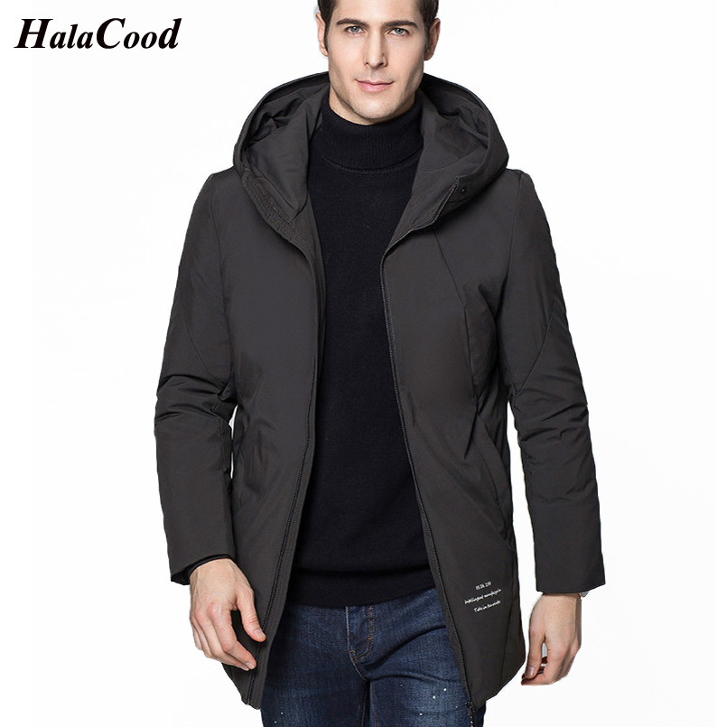 2018 New Winter Warm White Duck   Downs   Jacket Men Outwear Thick Snow Parkas Hooded   Coat   Male Casual Thermal   Downs   Jacket Men Fat