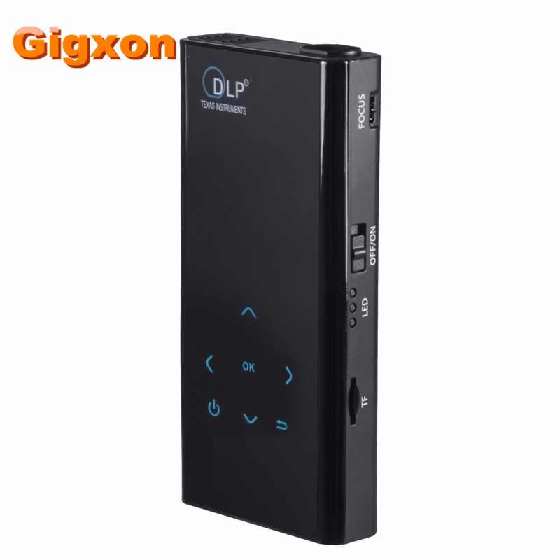 Gigxon - G06S new Mini Pocket DLP Projector With Android 4.4 WiFi Bluetooth HD1080P Proketor Projetor For Business Home Theater