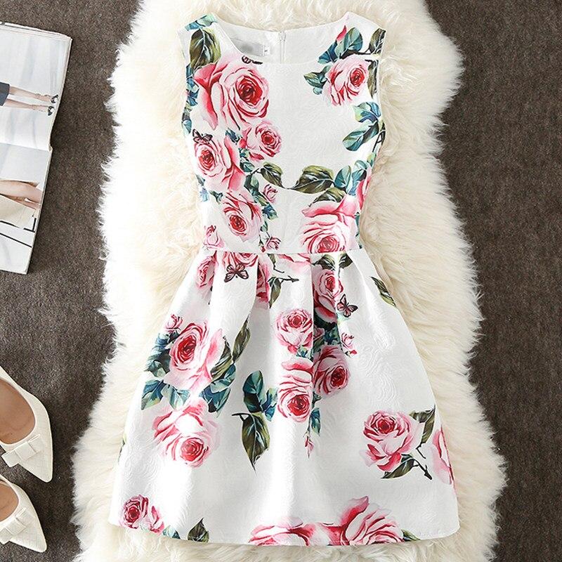 VENFLON Summer Dress Women 2020 Vintage Casual Elegant Sexy Floral Print Sleeveless Short Party Dresses Plus Size 5XL Vestidos