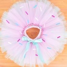 Candy Donut Baby Girls Tutu skirt Baby Birthday Party Costume Kids Dance