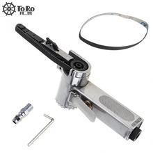 Drawing Machine Polishing Grinding Die-casting Aluminum Tools Linear 7100 10mm Pneumatic Air Belt Sander (10 x 330mm) недорого